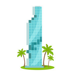 skyscraper in flat design vector image