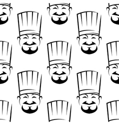 Smiling chefs seamless background pattern vector