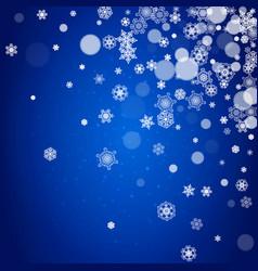 snowflakes border for christmas vector image