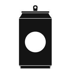soda icon simple black style vector image