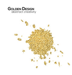spots with golden shimmering glitter isolated on vector image