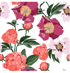 spring blooming flowers background vector image