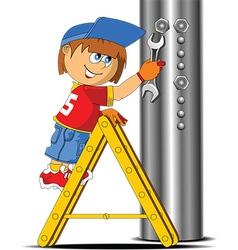 Step ladder vector