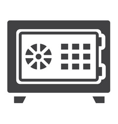 Strongbox solid icon bank safe and security vector