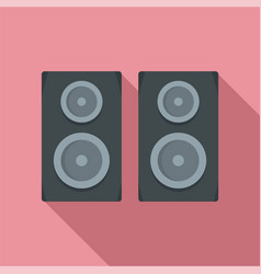 studio speakers icon flat style vector image