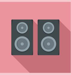 studio speakers icon flat style vector image