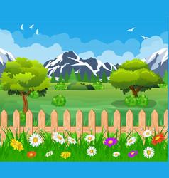 Summer garden landscape vector