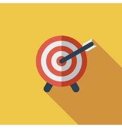 Target with dart vector