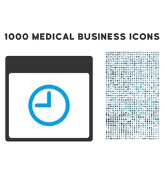 Time Calendar Page Icon With 1000 Medical Business vector image