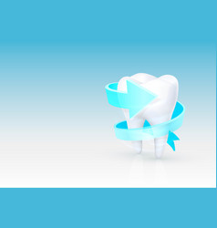 tooth on a white background template design vector image