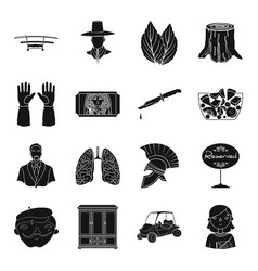 Travel art medicine and other web icon in black vector