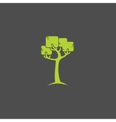 tree logo design template garden logotype vector image