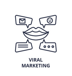 viral marketing line icon concept viral marketing vector image