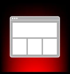 web window style vector image