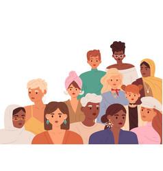 Woman community diverse women different age vector