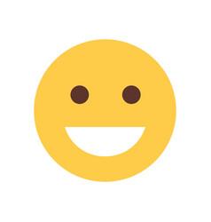 Yellow smiling cartoon face laughing emoji people vector