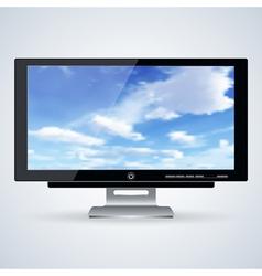 3d computer monitor vector image