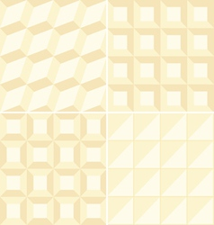 Beige geometric patterns vector image vector image