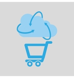cloud technology shopping online media icon vector image vector image