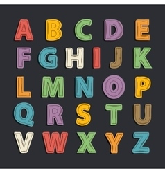 color Alphabet vector image vector image