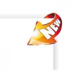 corner arrow icon vector image