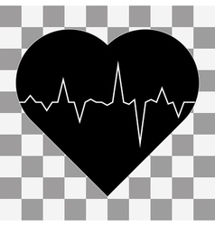 electrocardiogram icon on a transparent vector image