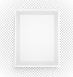 Empty picture frame isolated on transparent vector image vector image