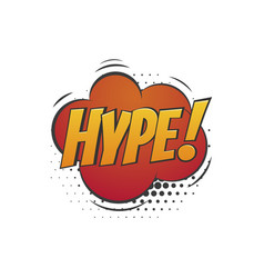 hype badge with isolated abstract cloud icon on vector image vector image