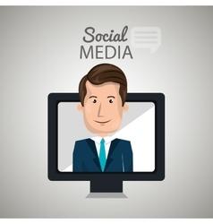 man social media apps vector image