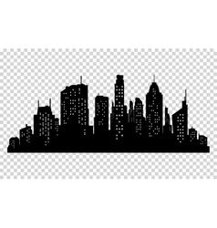 Set of city silhouette and elements for vector image vector image
