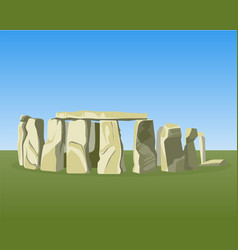 stonehenge famous prehistoric monument consists of vector image vector image