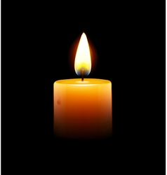 yellow candle vector image