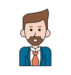 Businessman cartoon icon image vector