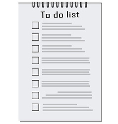 Empty to do list vector image vector image