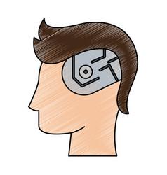 technology artificial brain vector image