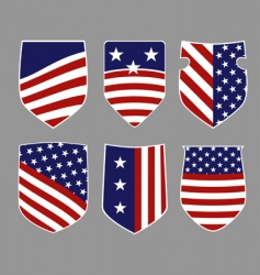 american shields vector image vector image