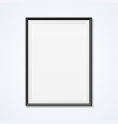 blank frame on a wall vector image vector image