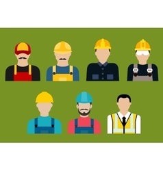 Construction and service professions avatars vector image vector image