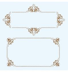 dot frames vector image vector image