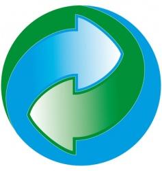 green dot vector image vector image
