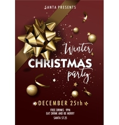 Merry Christmas party layout poster template vector image