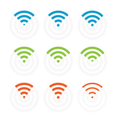 Wifi icons and signs wireless signal vector