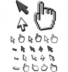 3d cursor vector image vector image