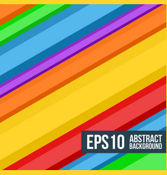 abstract multicolored stripes background vector image