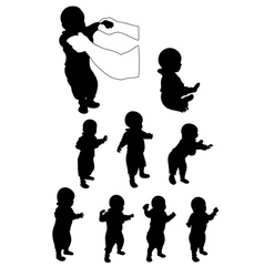 baby first steps vector image