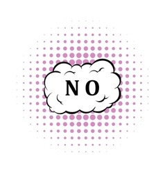 No in cloud icon comics style vector image