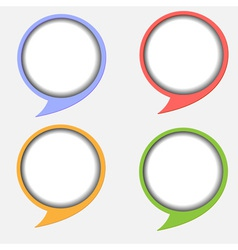 Paper round bubble vector image vector image
