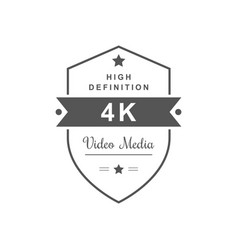 4k television logotype vector image