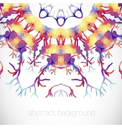 Abstract background with deer Antler vector
