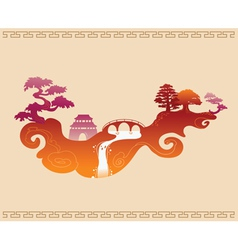 Abstract Decorative Chinese Background vector